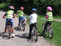 Children cycling at BikeFest